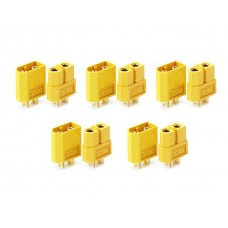 XT60 connectors (10 pairs, yellow)