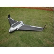 Silver & Black X8 Airplane